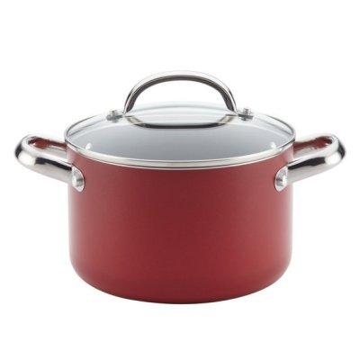 WALMART: Farberware Buena Cocina Aluminum Nonstick Covered Soup Pot, 4-Quart $22 + Store Pickup