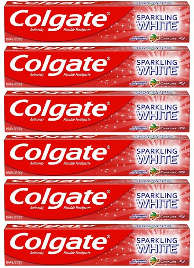 AMAZON: Colgate Sparkling White Whitening Toothpaste, Cinnamon - 6 ounce (6 Pack), JUST $7.92 (REG $14.94)