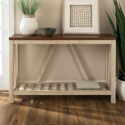 BEST BUY: Walker Edison Modern Farmhouse Entryway Table For $185.99 (Was $229.99) + Free Shipping