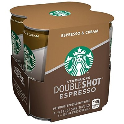 AMAZON: Starbucks Double Shot, Espresso, Coffee Drink 6.5 Fl Oz (Pack of 4) – PRICE DROP!