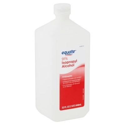 WALMART: Equate 91% Isopropyl Alcohol Antiseptic, 32 fl oz, LIMITED STOCK!