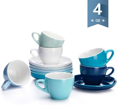 AMAZON: Espresso Cups with Saucers, JUST $14.25 (REG $26.99)