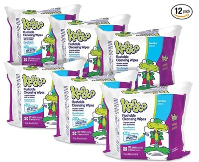 AMAZON: Flushable Wipes for Babies and Kids, Sensitive by Kandoo