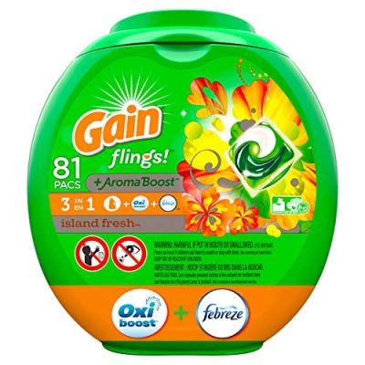 AMAZON: 81 Gain flings! Laundry Detergent Pacs Now $15.19