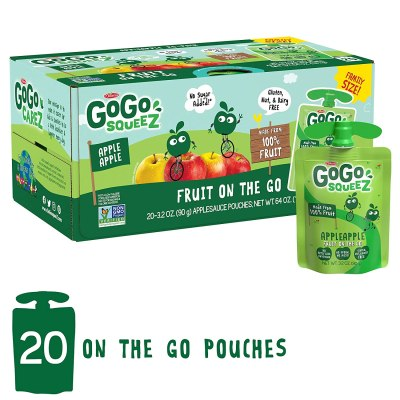 AMAZON: GoGo squeeZ Applesauce on the Go, Apple Apple, 3.2 oz, AS LOW AS $7.28 · CHECKOUT VIA SUBSCRIBE & SAVE!