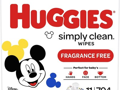 AMAZON: Huggies Simply Clean Unscented Baby Wipes, 11 Flip-Top Packs (704 Wipes Total)
