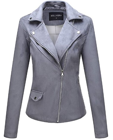 AMAZON: Bellivera Faux Suede Leather Jackets for Women $18.40 WITH CODE 60LDA1A3