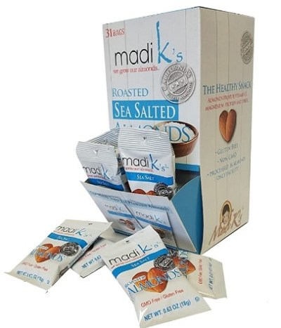 AMAZON: Madi K's Almonds, Sea Salt, 31 Count ONLY $10.09 Shipped