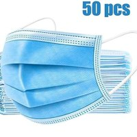 AMAZON: 50-Pack Disposable 3-PLY Non-Woven Earloop Face Mask For $13.40 + Free Shipping