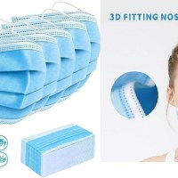 AMAZON: 100pcs Disposable Face Mask for Air Pollution, Dustproof Mouth Cover, 3-ply Safety $41.97 ($60)