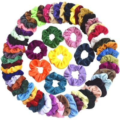 AMAZON: Mcupper 60 Pcs Hair Scrunchies Velvet Elastic Hair Bands, AWESOME PRICE