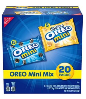 AMAZON: OREO Mini Mix Sandwich Cookies Variety Pack, 20 - 1 oz Packs