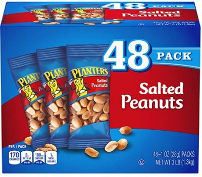 AMAZON: 48 Count PLANTERS Salted Peanuts, 1 oz. Bags for $7.48 Shipped!