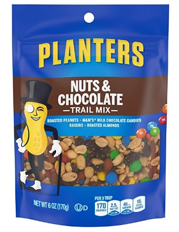 AMAZON: Planters Nuts and Chocolate Trail Mix, 6 oz Bag ONLY $1.85 Shipped!