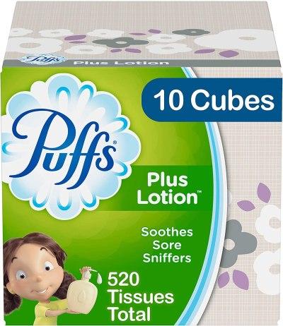 AMAZON: Puffs Plus Lotion Facial Tissues, 10 Cubes, 52 Tissues per Box (520 Tissues Total)