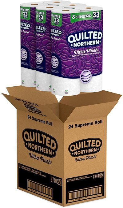AMAZON: Quilted Northern Ultra Plush Toilet Paper 24 Supreme Rolls For $24.15 + Free Prime Shipping