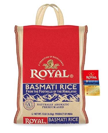 AMAZON: 15-Pound Bag Authentic Royal Royal Basmati Rice, White $12.74