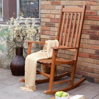WALMART: Coral Coast Indoor/Outdoor Mission Slat Rocking Chair - Natural $99.00 (Reg $149.99)