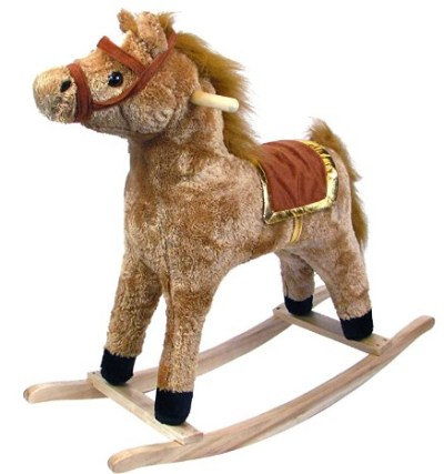 AMAZON: Happy Trails Horse Plush Rocking Horse - Wooden Rocker – PRICE DROP!