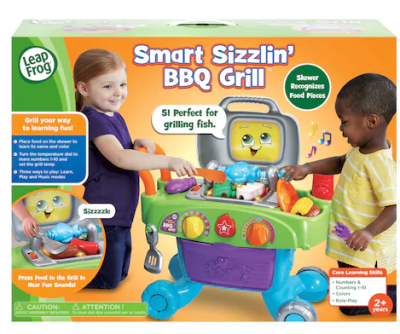 KOHL'S: LeapFrog Smart Sizzlin' BBQ Grill $19.99 (Regular $39.99 )