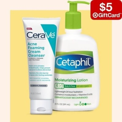 TARGET: Free $5 Gift Card-Buy 3 Get A $5 Gift Card On Select Skin Care Items