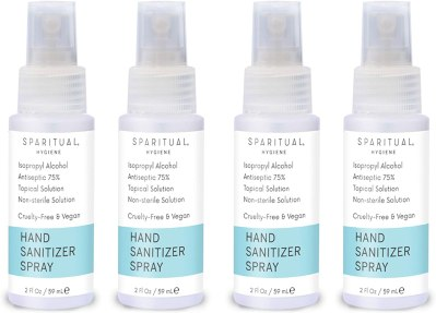 AMAZON: SPARITUAL Hand Sanitizer Spray 2oz | 4-Pack Bundle Alcohol Based Hand Sanitizers