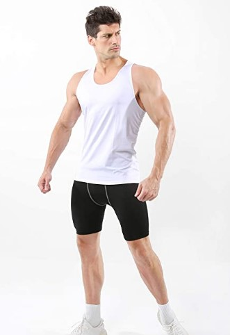 AMAZON: 2pk Men's Sleeveless Compression Muscle Tank Top Athletic Cool Dry $7.25 ($29)