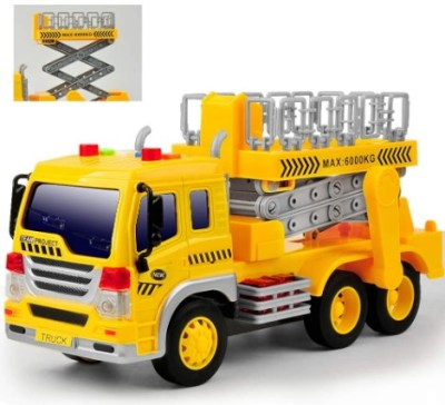 AMAZON: Toy Truck Friction Power w/ Lights & Sounds, Super Duty Lift Construction Vehicles Pull Back $10 ($25)