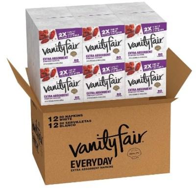 AMAZON: Vanity Fair Everyday Extra Absorbent Premium Paper Napkin, 960 Count – PRICE DROP!