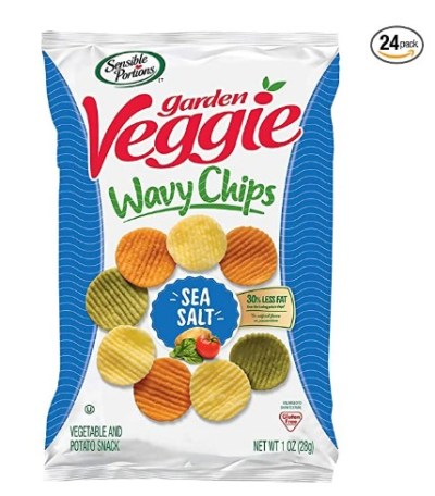 AMAZON: Sensible Portions Garden Veggie Chips, Sea Salt, 1 Ounce (Pack of 24) – CLIP 35% COUPON!