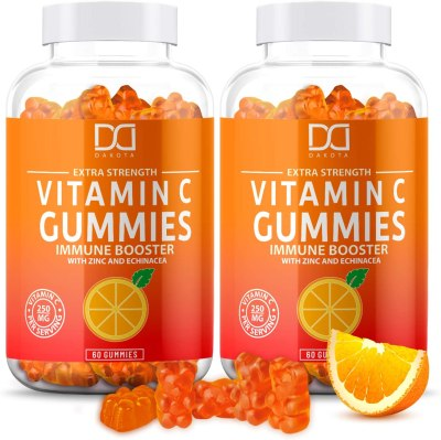 AMAZON: Vitamin C Gummies with Zinc for Immune Support Booster Supplement