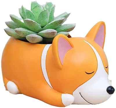 AMAZON: Youfui Cute Dog Flowerpot Resin Succulent Planter Desk, JUST $6.99