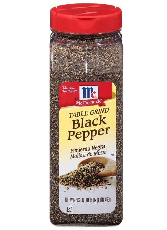 AMAZON: McCormick Table Ground Black Pepper, 16 Oz $9.33