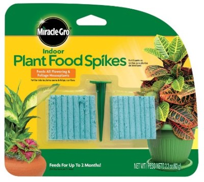 AMAZON: Miracle-Gro Indoor Plant Food, 48-Spikes For $2.13 (Was $7.25) + Free Shipping