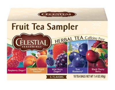 AMAZON: Celestial Seasonings Fruit Tea Sampler, 18 Ct For $2.49 + Free Prime Shipping
