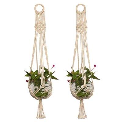 WALMART: 2-pack Macrame Plant Hanger, Hanging Basket Cotton Rope Braided Craft $15.97 ($28.75)