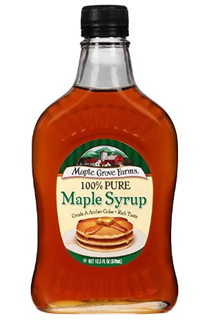 AMAZON: Maple Grove Farms Pure Maple Syrup, 12.5 oz – Great Reviews!