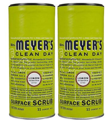 AMAZON: Mrs. Meyer's Clean Day Surface Scrub - Lemon Verbana - 11 oz - 2 pk