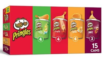 AMAZON: Pringles Potato Crisps Chips, Flavored Variety Pack, 15 Count, 20.6oz