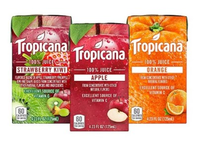 AMAZON: Tropicana 100% Juice Box, 3 Flavor Variety Pack, 4.23oz, 44 Count