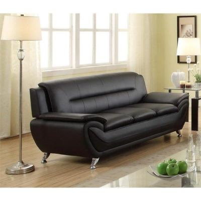 WALMART: Kingway Furniture Ashely Faux Leather Living Room Sofa -Black $485.99 (REG. $789.00)