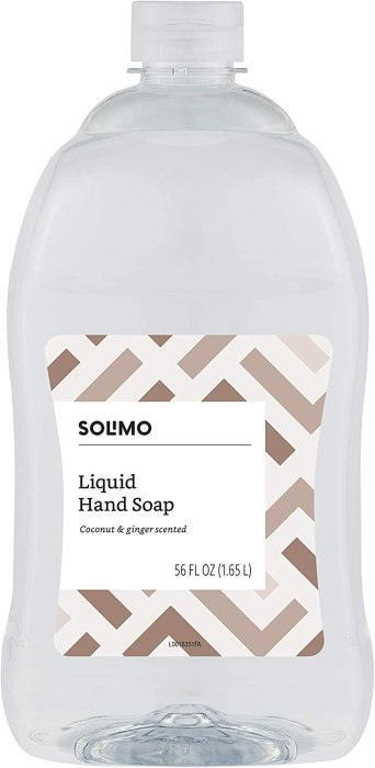AMAZON: Solimo Liquid Hand Soap Refill, Coconut and Ginger Scent, 56 Fluid Ounce
