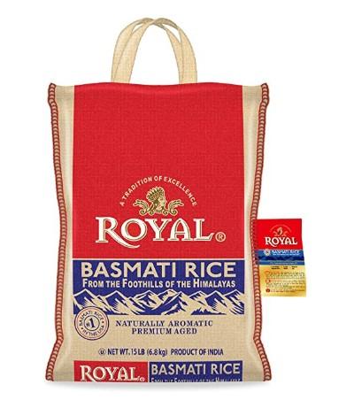 Amazon: Authentic Royal Royal Basmati Rice, 15-Pound Bag, White $13.38