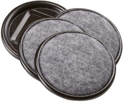 AMAZON: 4-Pack SoftTouch 2-1/2 Inch Round Carpet Bottom Furniture Caster Cups For $4.99 + Free Prime Shipping