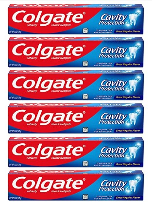 AMAZON: Colgate Cavity Protection Toothpaste with Fluoride - 6 Ounce (Pack of 6) $7.92 or Less!