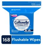 WALMART: Cottonelle FreshCare Flushable Wipes, resealable pack, 168 wipes total