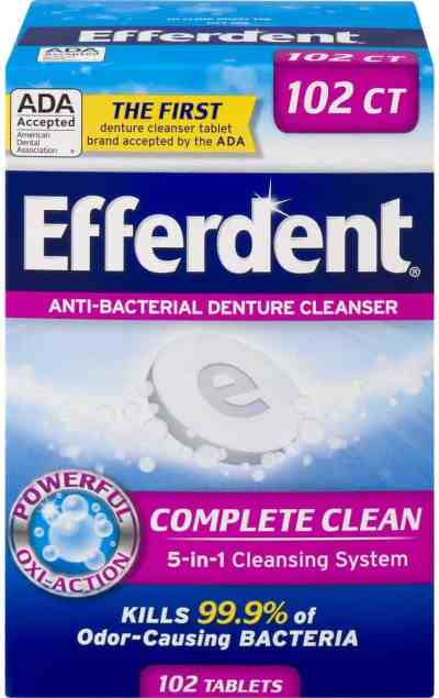 Amazon: Efferdent Denture Cleanser Tablets, Just $2.50 (Reg $5.99)
