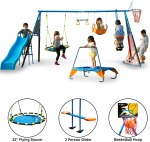 AMAZON: 'The Ultimate' 8 Station Sports Series Metal Swing Set by FITNESS REALITY KIDS $319.00