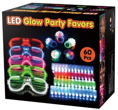 AMAZON: BATTOP 60 Pack LED Light Up Toys Party Favors – 45% OFF!