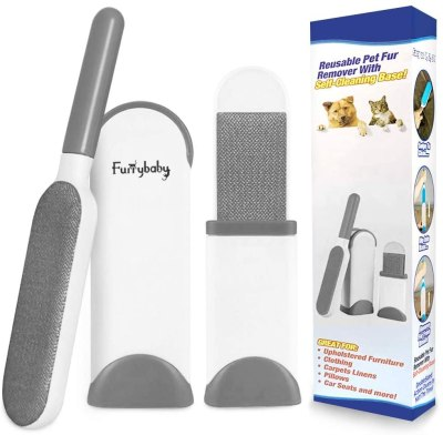 AMAZON: furrybaby Pet Hair Remover Brush with Self Cleaning Base – 50% OFF!